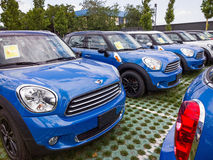 Mini cars for sale Royalty Free Stock Photography