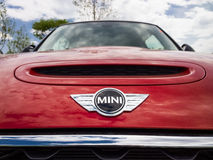 Mini cars for sale in showroom. Mini cars in dealership for sale Royalty Free Stock Photography