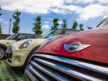 Mini cars for sale in showroom Royalty Free Stock Image