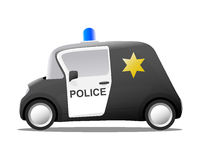 Mini cartoon sheriff police car Royalty Free Stock Photos