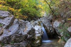 Mini cascata Fotografie Stock Libere da Diritti