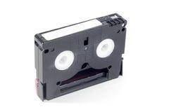 Mini cassette de DV aislado en blanco Imagenes de archivo