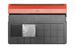 Mini cassette de DV con el camino (visión superior) Fotos de archivo