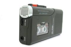 Mini Cassetterecorder die op Wit wordt geïsoleerde Royalty-vrije Stock Foto's