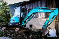 Mini Caterpillar Excavator Fotografía de archivo libre de regalías