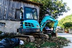 Mini Caterpillar Excavator Fotos de archivo