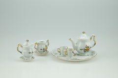 Mini ceramic tea cup set Royalty Free Stock Image
