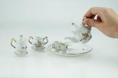 Mini ceramic tea cup set Stock Images