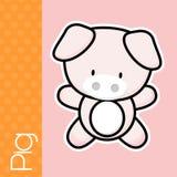 Mini cerdo del bebé Fotografía de archivo