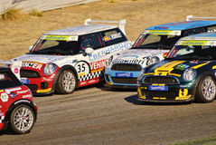 Mini Challenge Race. Melee. Jarama Vintage Festival 2011. Madrid Royalty Free Stock Images