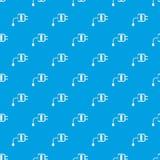 Mini charger pattern seamless blue Stock Photo