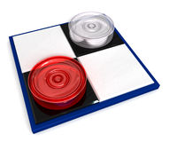Mini checkers Royalty Free Stock Images