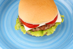 Mini cheese burger Stock Photography