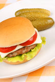 Mini cheese burger Stock Images