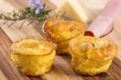 Mini Cheese Quiche Stock Photos