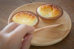 Mini Cheese Tart Dessert delicioso imagem de stock royalty free
