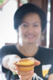 Mini Cheese Tart Dessert delicioso imagen de archivo libre de regalías