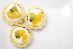 Mini cheese tarts Royalty Free Stock Images