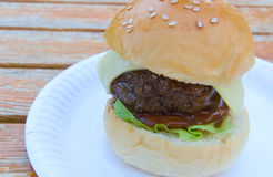 Mini Cheeseburger Stock Image
