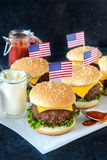 Mini cheeseburgers Royalty Free Stock Images