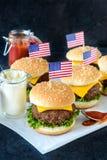 Mini cheeseburgers Royalty Free Stock Images