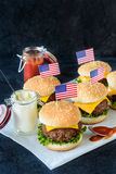 Mini cheeseburgers Royalty Free Stock Photography