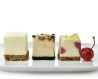 Mini Cheesecake Slices Stock Photos