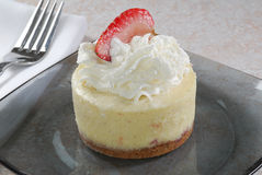 Mini cheesecake with Strawberry Stock Image
