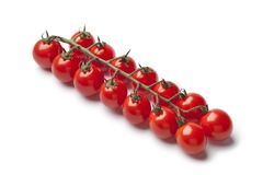 Mini cherry tomatoes on a vine Stock Photo