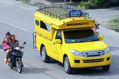 Mini chiangmai amarelo do táxi do caminhão Fotografia de Stock