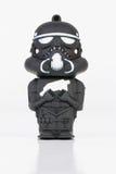 Mini chiffre en caoutchouc brutal du Star Wars Photographie stock