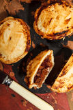 Mini chilli beef pies Stock Photography