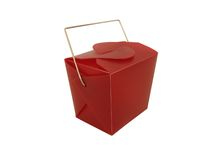 Mini Chinese Togo Box. With red color stock photo