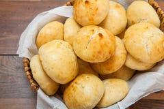 Mini chleb w koszu Zdjęcia Royalty Free