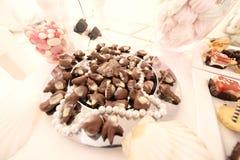 Mini chocolate bits Stock Image