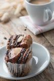 Mini chocolate bread with coffee. Royalty Free Stock Photos
