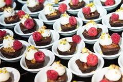 Mini Chocolate Brownies Imágenes de archivo libres de regalías