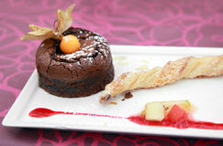 Mini chocolate cake Stock Photos
