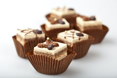 Mini Chocolate Cakes Stock Photos
