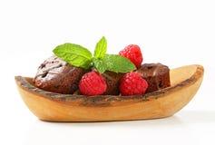 Mini chocolate cakes Royalty Free Stock Image