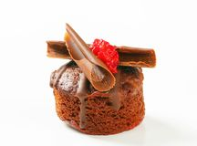 Mini chocolate dessert cake Royalty Free Stock Images