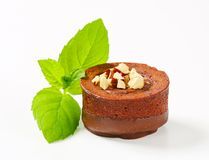 Mini chocolate hazelnut cake Stock Images