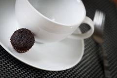 Mini Chocolate Muffin. A delicious chocolate muffin to serve with tea or coffee royalty free stock images