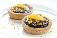 Mini Chocolate Tart Royalty Free Stock Images