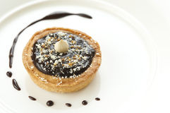 Mini Chocolate Tart Stock Photography