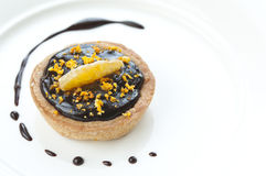Mini Chocolate Tart Stock Image