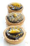 Mini Chocolate Tart Royalty Free Stock Images