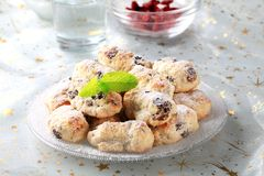 Mini Christmas stollen cakes Royalty Free Stock Image