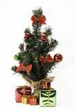 Mini Christmas Tree und Geschenke Lizenzfreies Stockfoto