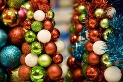 Mini Christmas trees stock photos